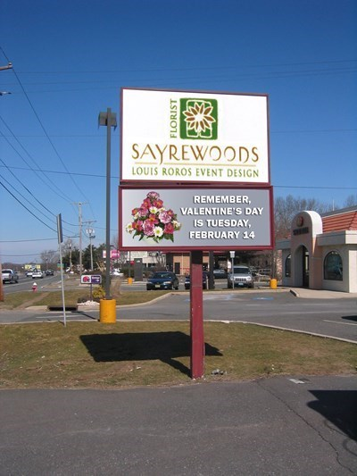 Sayrewoods Post Sign