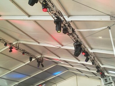 Lighting system in tent